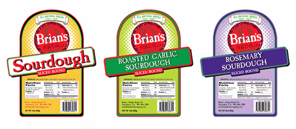Brian's Bread Packaging
